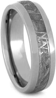Jewelry By Johan Meteorite Ring, Unisex Wedding Band with Genuine Gibeon Meteorite