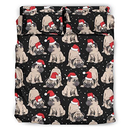 atmungsaktiv und kühlend Bett-Set Luxus-Bettwäsche kühl und faltenfrei für Jungen White 175x218cm