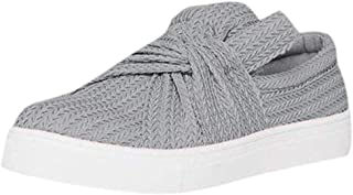 QueenBB Women's Loafers Slip On Flatform Top Ruched Bowknot Fashion Flat Sneaker Driving Shoes Seaport Penny Loafer