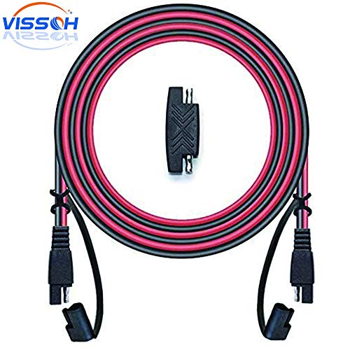 VISSQH SAE Verlängerungskabel, SAE bis SAE Verlängerungskabel,SAE Quick Connect Anschluss Kabel +Solarpanel SAE-Stecker(3M 16AWG)