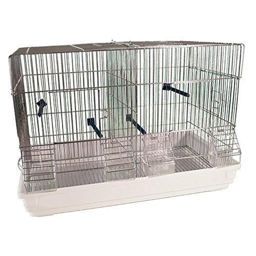 Arquivet jaulas para cría de pájaros - Kit 2 Jaulas - zincadas - 2 compartimentos - 58 x 32 x 40 cm