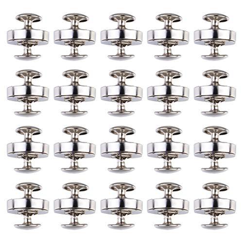 HEALLILY 50 Piezas Botón Magnético Broches Monedero de Plata Broches de Presión Botón Bolso Monedero Cierre de Cierre para Coser Bolsas de Artesanía Ropa 18 Mm