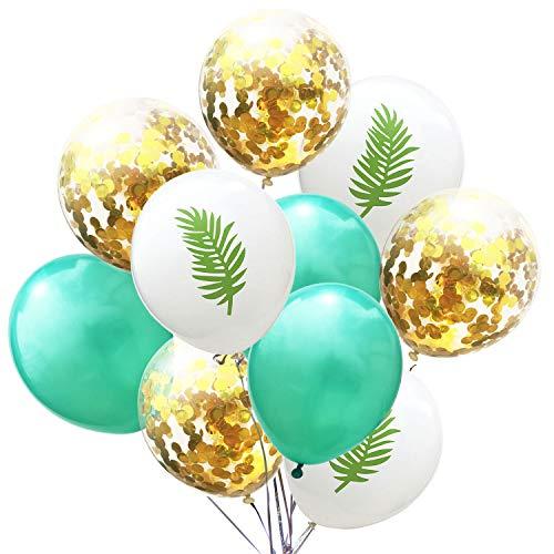 Outflower Vert Feuilles Motif Ballon Multi-Styles Suspendu Ballon Gonflable Romantique Flottant Hélium Ballon en Latex Rêve Fée Décoratif Suppiles pour Les Fêtes, Anniversaire, Mariage Size 40cm