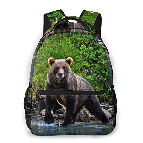 Bear In The Tatras Durable Kids Back to School Zaino Borsa per libri in Poliestere per Ragazzi, Ragazze, adulti