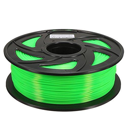 MASUNN 1.75 mm 1Kg PLA Transparent Rot/Blau/Grün/Gelb Filament Für 3D-Drucker Reprap - Grün