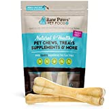 Raw Paws Pet Premium 8-inch Compressed Rawhide Bones for Dogs, 2-Count - Packed in USA - Long Lasting Dog Chews - Natural Pressed Rawhides - Large Dog Bones - Beef Hide Bones for Aggressive Chewers