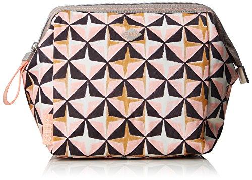 Oilily Damen Ruffles Geometrical Washbag MHz 3 Taschenorganizer, Pink (Rose), 12x22x22 cm