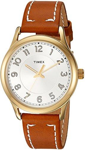 Timex Reloj Analogico para Mujer de Cuarzo con Correa en Cuero TW2R23000