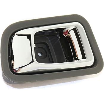 Amazon Com Interior Rear Door Handle Compatible With Honda Pilot 2003 2008 Lh Chrome Gray Plastic Automotive