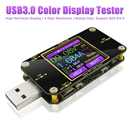 USB Spannungsprüfer USB Tester Multimeter Typ-C Voltmeter PD Amperemeter Messgerät Digital Power Meter Farbe Display Spannung Strom Multi-function