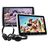2020 Headrest DVD Player Car DVD Player 10.1 Inch DVD PlayerDual Universal Vehicle Headrest Monitor Portable DVD Player for Kids Touch Screen Headrest DVD Player Digital Touch Button HDMI-C1100A