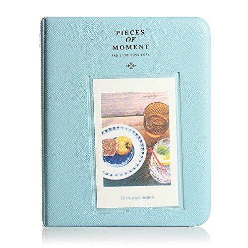 Album Photo Photographie Image 64Pochettes pour Polaroid Fuji Film Instax Mini Film BLEU