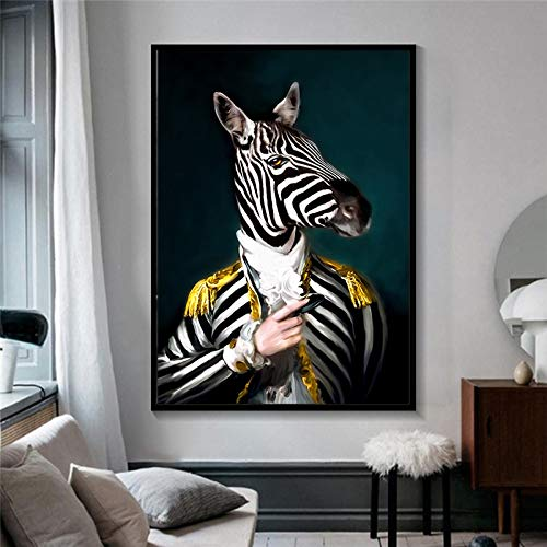 Pittura Senza Cornice Pittura murale Animale Astratta Elegante Cavallo Elefante Leone Volpe Lupo Poster Decorare soggiornoAY6404 40X60cm