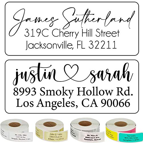 Address Labels Personalized Calligraphy Script Return Address Labels Customized Mail Labels Wedding Labels Custom Address Stickers