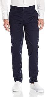 IZOD Uniform Men's Young Modern Fit Flat Front Twill Pant, Navy, 28x32
