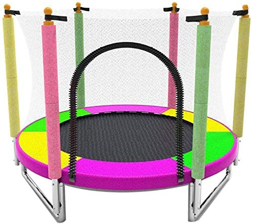 Multi-functioneel trampoline fitness, indoor rebounder trampoline met vangnet mand kinderen trampoline, bounce bed for 1-2 personen Entertainment (LxBxH) 59 × 59