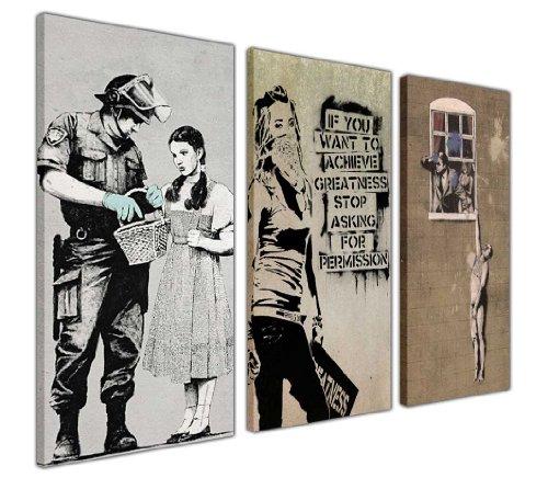 Moderne Kunstwerke von Banksy, Leinwanddrucke, Bildkollektion,