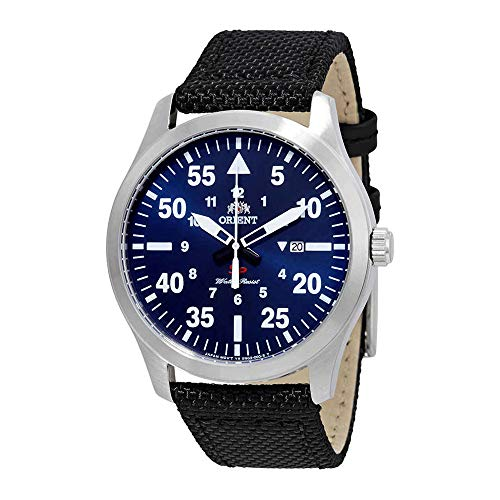 Orient Flight Blue Dial Black Nylon Men's Watch FUNG2005D