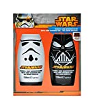 Star Wars-The Clone Wars Darth Vader Jedi Yoda Jungen Duschgel & Badeschaum 2 x 150ml - orange -