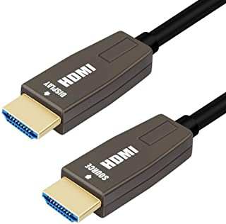 BlueAVS 4K HDMI Fiber Optical Cable 6FT, HDMI 2.0 Cable 18Gbps 4K@60Hz ARC CEC HDCP High Speed Slim HDMI Cable