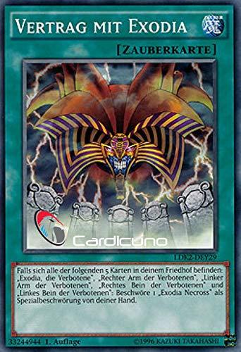 Vertrag mit Exodia - LDK2-DEY29 - Common - Yu-Gi-Oh! - Deutsch - Unlimitierte Auflage - Mit Toploader - Cardicuno