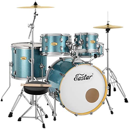 Eastar 20 Inch Drum Set for Adult Junior Teen 5 Piece Professional Full Size Drum Kit with Cymbals product image