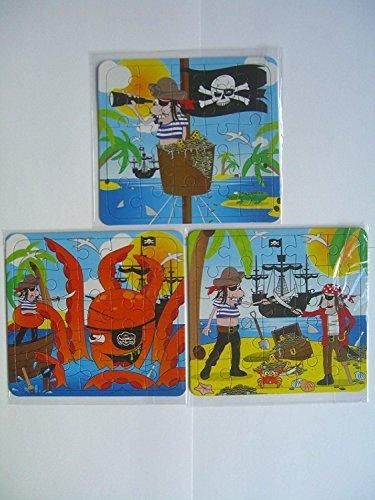 PARTYRama Paquet de 12 Thème Pirate Mini Puzzles - Enfants Fête Sac Butin