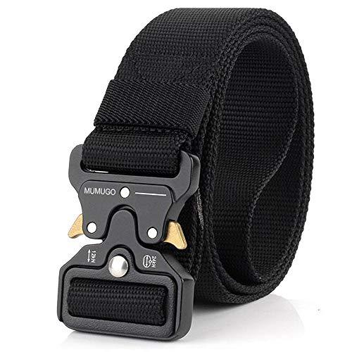 MUMUGO Cinturón táctico de los hombres Estilo militar con nosotros Cinturón de nylon de alta resistencia para el entrenamiento de caza Ejército que se ejecuta