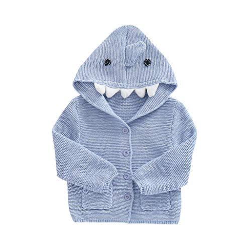 Baby Mädchen Mäntel Winter Warm Kleidung Daunenmantel (6M-3Y) Säuglingskind Langarm Cartoon Dinosaurier Mit Kapuze Warme Strickjacke,Kinder Jacken Dicke Coat Wolljacke Fleece