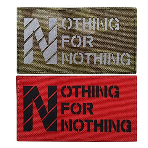 No Free Lunch Nothing for Nothing Reflectante IR Patch Militar Insignias bordadas por infrarrojos parches...