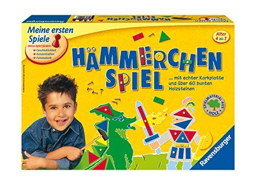 Ravensburger 21422 - Hämmerchen Spiel - Beschäftigung für Kinder, Nagelspiel für 1-4 Spieler, Geschicklichkeitsspiel ab 4 Jahren geeignet