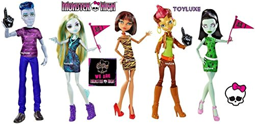 Monster High 'We Are Monster High' 5 Pack Featuring Slo Mo, Cleo De Nile, Lagoona Blue, Scarah Screams, and Gilda Goldstag