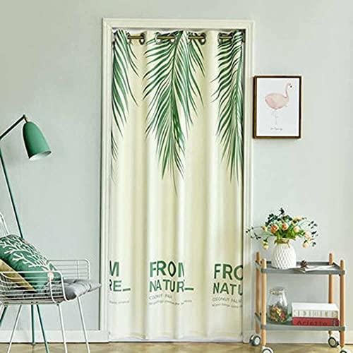LXHONG Verdunkelungsvorhänge, Ersticken Isolierung Vorhang Einfacher Sichtschutz-Trennvorhang Für Schlafzimmer Küche Balkon, Einfach Zu Säubern (Color : Green, Size : 120x150cm)