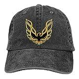PINttyone Trans Am Firebird Logo Unisex Retro Washed Baseball Cap Dad Hat Black