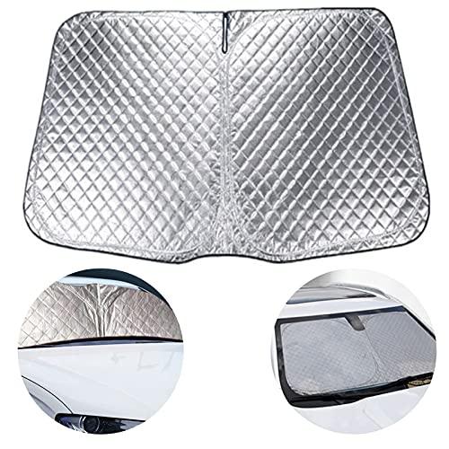 Ablily Parasol Parabrisas Coche Protector Solar para Luna Delantera Parasol de Coche...