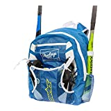 Rawlings Youth Savage Baseball Bat Bag - Batpack with External Helmet Holder for Baseball, T-Ball & Softball Equipment & Gear for Youth and Adults | Royal