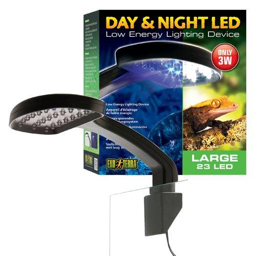 Exo Terra Tag & Nacht LED Beleuchtung, geringe Wärmeentwicklung. 22 x 24,5 x 8,5cm (BxHxT) - 2