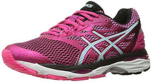 ASICS Zapatillas de correr Gel-Cumulus 18 para mujer, Rosado (Sport Pink/Aruba Blue/Black), 8 B(M) US