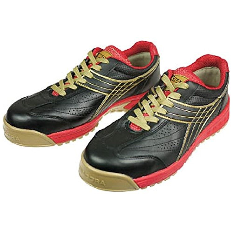 ドンケル/ディアドラ DIADORA 安全作業靴 ピーコック 黒 25.0cm(3881733) PC22-250 [その他]