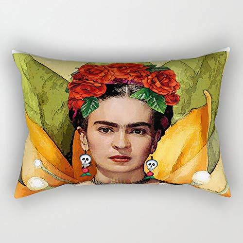 N/A Funda de cojin Mi Bella Frida Kahlo rectangular almohada sofa decorativa funda de almohada para decoracion del hogar 51 x 76 cm