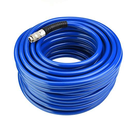 Cocoarm Druckluftschlauch 30M Druckschlauch Luftschlauch Flexibler Pneumatischer PVC-Schlauch mit Schnellanschluss, Innendurchmesser 9.5 mm, Außendurchmesser 15 mm, Arbeitsdruck 300 PSI