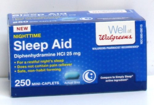 Walgreens Nighttime Sleep Aid Mini-Caplets Box Of 250 by Walgreens