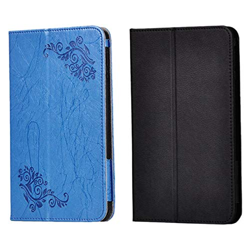 Monland 2 Pcs PU Leather Case for VANKYO MatrixPad S8 Tablet 8 Inch Anti-Drop Printing Flip Leather Case Tablet Stand