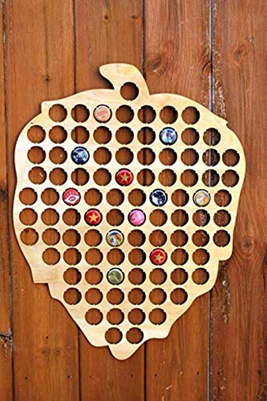 Hops Beer Cap Map Wood Bottle Beer Cap Wall Art Plaque Collection Gifts For Him For Dad For Husband Boyfriend Gifts