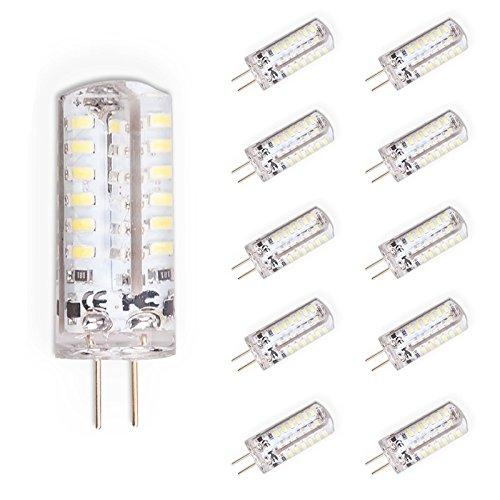 Set van 10 G4 LED 3 watt lamp peertje peertsokkellamp gloeilampen koud wit, vervanging voor 30W halogeenlamp, 250 lumen, DC 12V koud wit