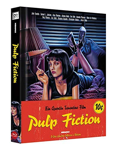 wattiertes Mediabook - Pulp Fiction - 2 Disc Limited Edition (Blu Ray + DVD) mit Booklet - Quentin Tarantino Collection