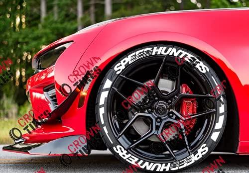 Pegatinas permanentes de Speedhunters para letras de neumáticos de 1.25 pulgadas para ruedas de 14 a 22 pulgadas, 16 calcomanías