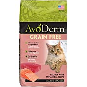 Avoderm Natural Grain-Free Dry Cat Food, Salmon With Tuna Meal Recipe, 5 Pound Bag