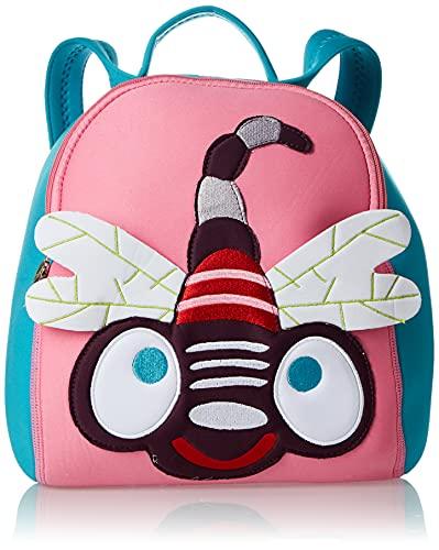 Bunter 3D Kinderrucksack von Oops SA mit Libellen Motiv, ab 18 Monate, (Rucksack für Jungen und Mädchen, buntes Motiv im Libellen-Design, verstellbarer Tragegurt, Maße: 10x19x24 cm), Mehrfarbig