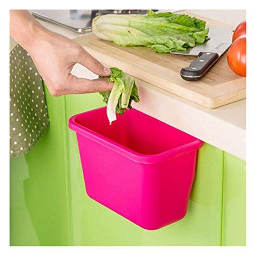 Ularma Küchenschrank Küchen hängen Müllsackständer Plastik Lagerung Hängeleiste Hängende Aufbewahrungsbox (hot pink)